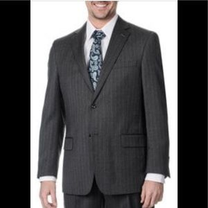 NWOT Ted Baker Gray Men's Pinstripes Blazer : 42R